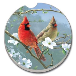 Car Coaster - Beautiful Songbirds-Cardinals