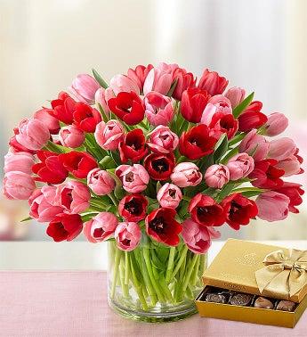 Sweetest Love Tulips, 60 Stems