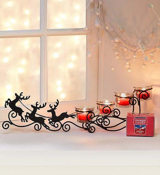 Reindeer Sleigh & Yankee Candle Tea Light Set