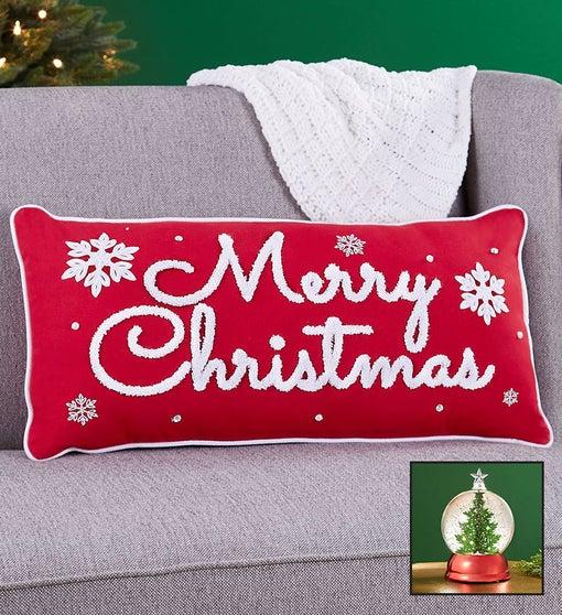 Merry Christmas Pillow Gift Set