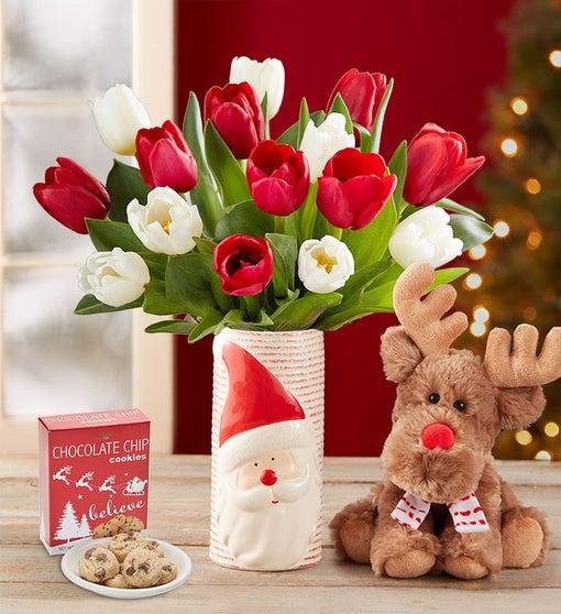 Santa's Merry Christmas Tulips