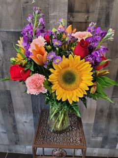 Floral Embrace In Gathering Vase
