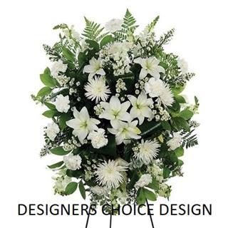 All White Designers Choice Design & Flower Choice