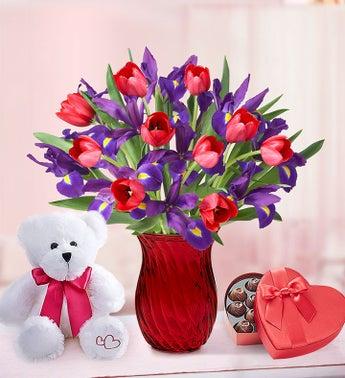 Bunches of Love Tulip & Iris Bouquet