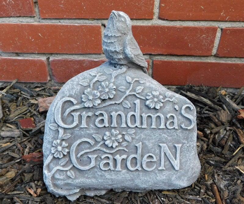 Grandma's Garden Stone Statue