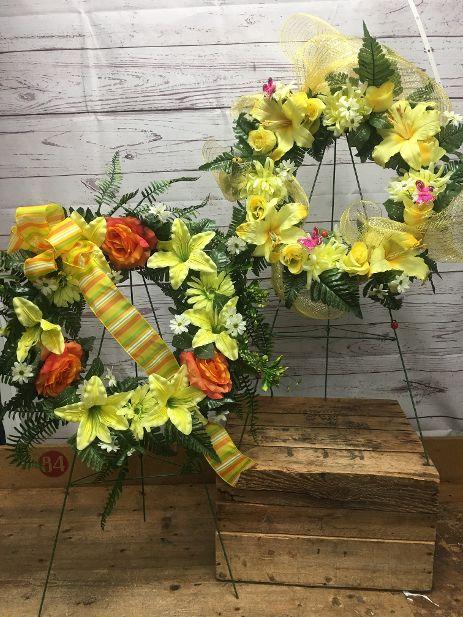 Cemetery Silk Wreath