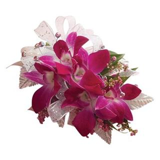 Corsage Wrist - Orchid
