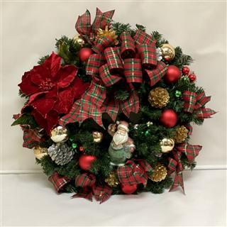 Festive Silk Christmas Wreath
