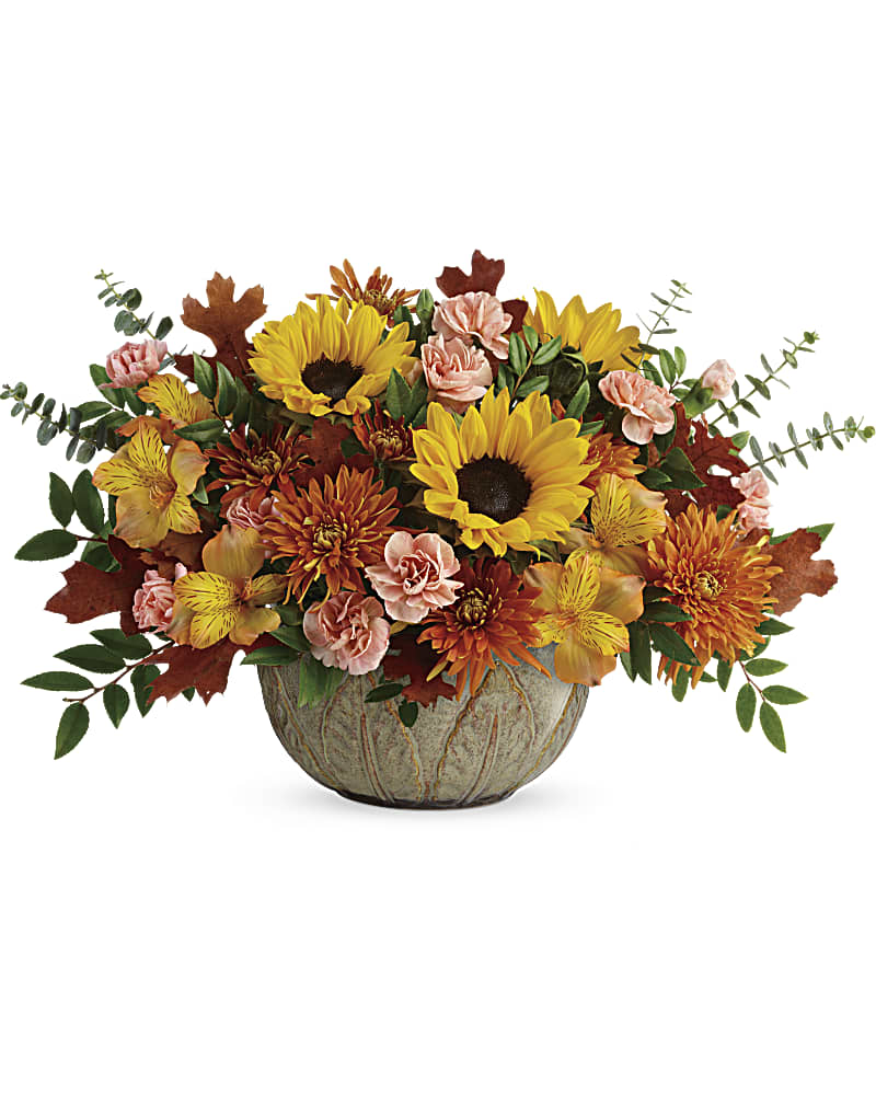 Teleflora's Autumn Sunbeams Centerpiece