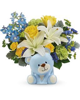 Teleflora's  Sunny  Cheer  Bear  Bouquet