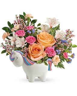 Teleflora's  Magical  Garden  Unicorn  Bouquet