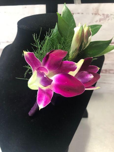 Fresh Purple Orchid Wrist Corsage