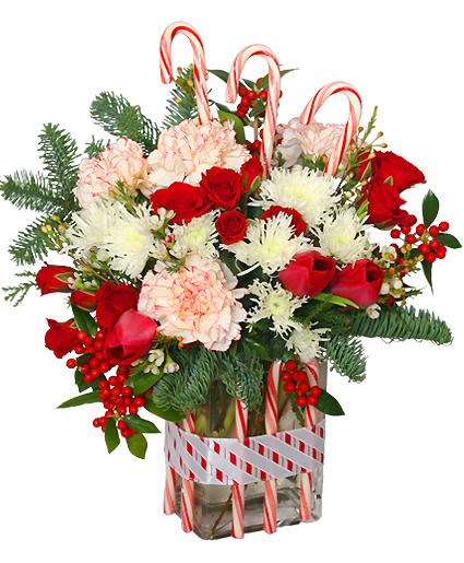 PEPPERMINT PLEASURESDeluxe Christmas Bouquet