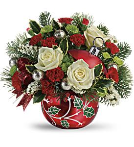 Teleflora's Classic Holly Ornament Bouquet