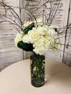 Elegant Green and White Floral Arrangement